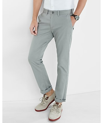 skinny hayden flex stretch light gray chino pant