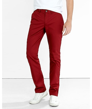 bright red finn slim chino