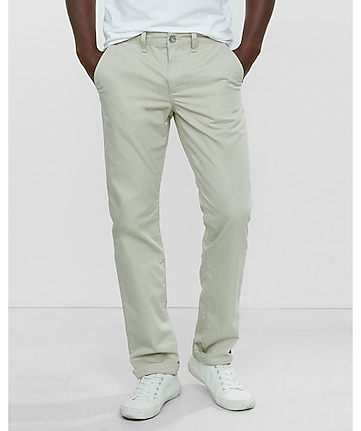 slim finn light khaki chino pant