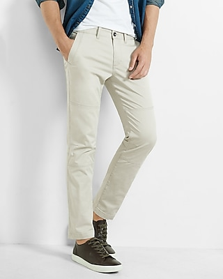 Express Mens Skinny Hayden Flex Stretch Moto Chino Pant