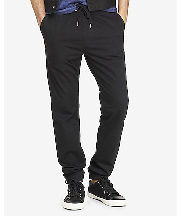 jogger black cotton pant