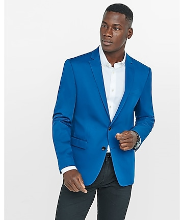 slim photographer blue blazer