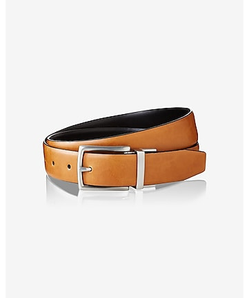 brushed metal prong buckle belt