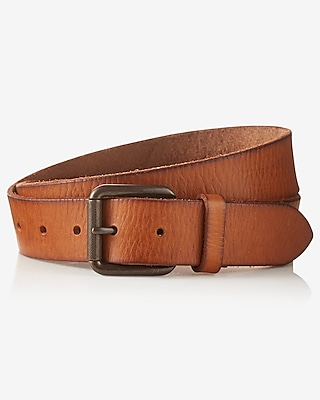 Express Mens Leather Buckle Belt