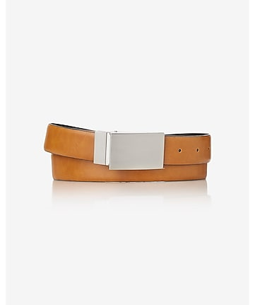 2-IN-1 reversible coated leather belt