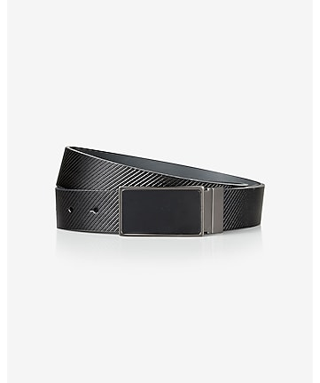 2-IN-1 reversible matte plaque belt