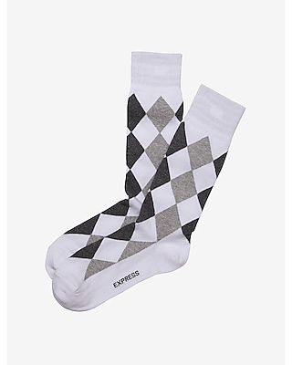 field diamond dress socks