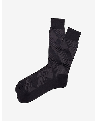 TONAL STRIPED DIAMOND DRESS SOCKS