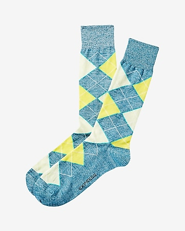 marl argyle dress socks