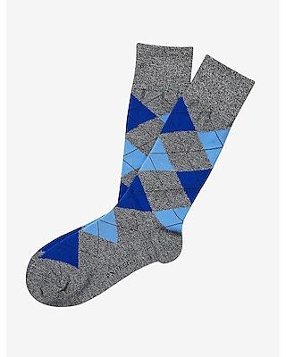 Marled Argyle Dress Socks
