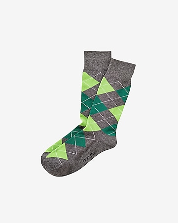 argyle dress socks - placid green