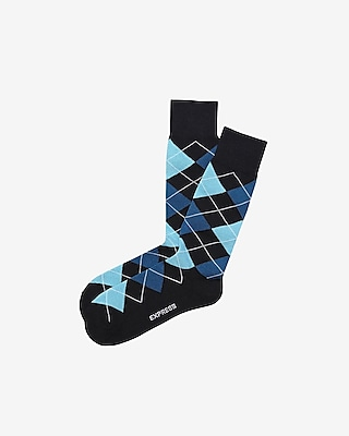 Express Mens Argyle Dress Socks Blue