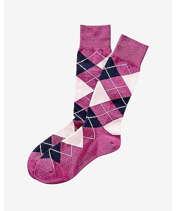 heathered argyle dress socks
