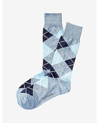 Express Mens Heathered Argyle Dress Socks