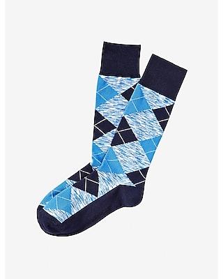 Express Mens Space Dye Argyle Dress Socks