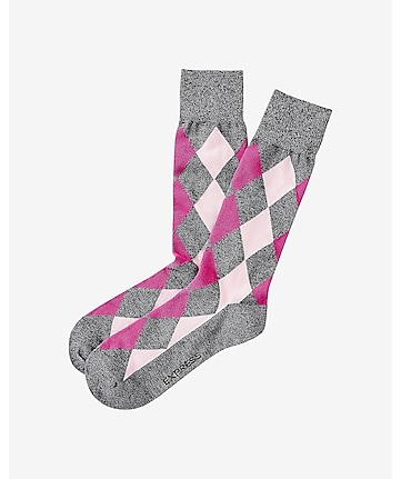 marled diamond dress socks