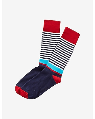Express Mens Mixed Stripe Dress Socks