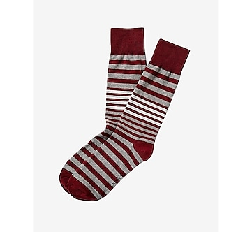 stripe print dress socks