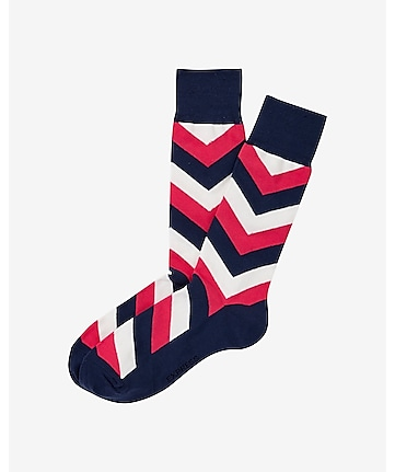 chevron print dress socks