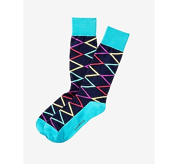 diamond print socks