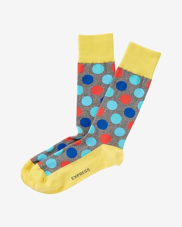 colorful polka dot dress socks