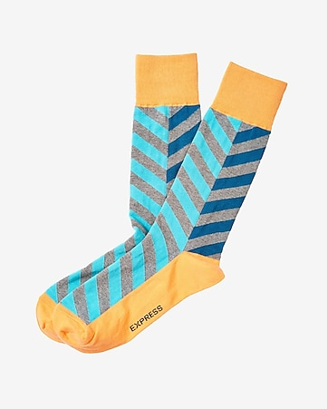 chevron dress socks