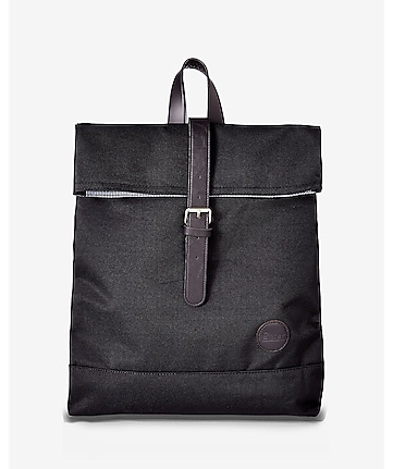 enter accessories black fold top backpack