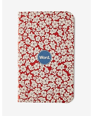 Express Mens Word Notebook Red Floral 3-Pack Red