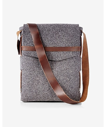 robert mason merino wool and leather satchel