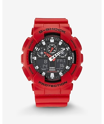 g-shock extra large black and red watch