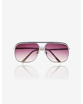 Express Mens Two Tone Shield Sunglasses