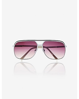 two tone shield sunglasses