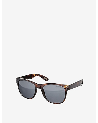 tortoise studded square sunglasses