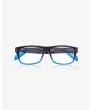 ombre frame clear lens glasses