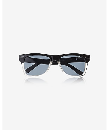 two tone square sunglasses