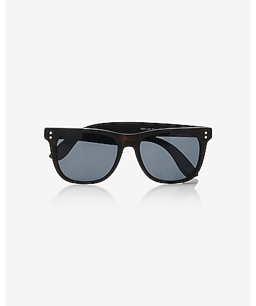 matte dark tortoise shell square sunglasses