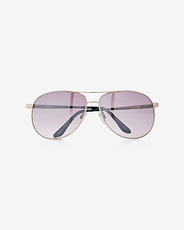 gold mirrored aviator sunglasses