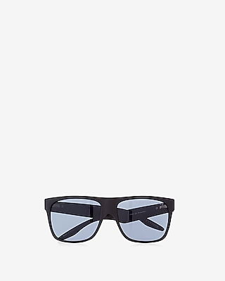 Express Mens Matte Rubber Square Sunglasses