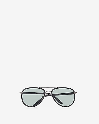 Express Mens Textured Armband Aviator Sunglasses
