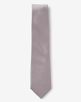 Express Mens Solid Narrow Silk Tie