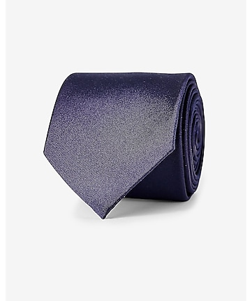 narrow solid color silk tie