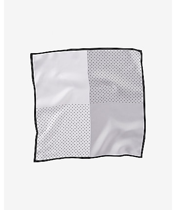 solid and dot four-way silk pocket square