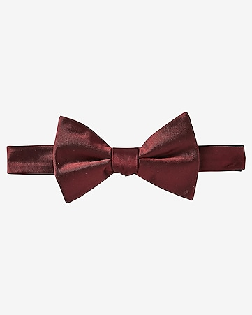 dark red silk bow tie