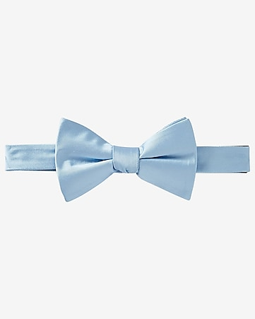 light blue silk bow tie