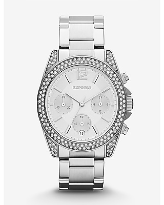 RODEO PAVE EMBELLISHED CHRONOGRAPH WATCH