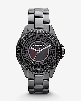 ANALOG CERAMIC BRACELET WATCH - BLACK