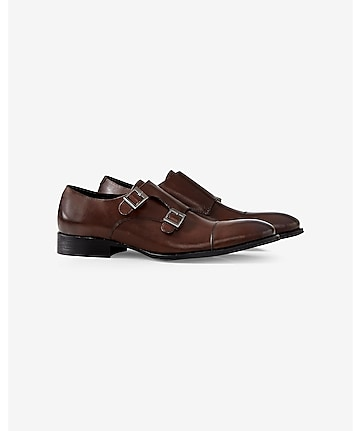 leather monk strap dress shoe
