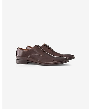 leather cap toe oxford