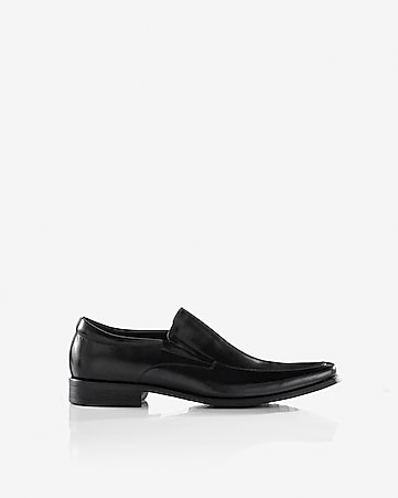 leather loafer dress shoe