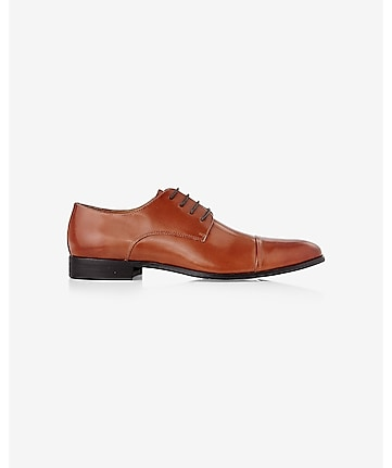 brown leather oxford dress shoe